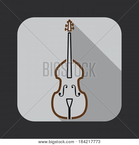 Contrabass icon isolated on white background .