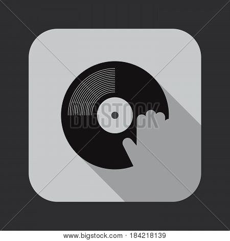 dj icon isolated on white background .
