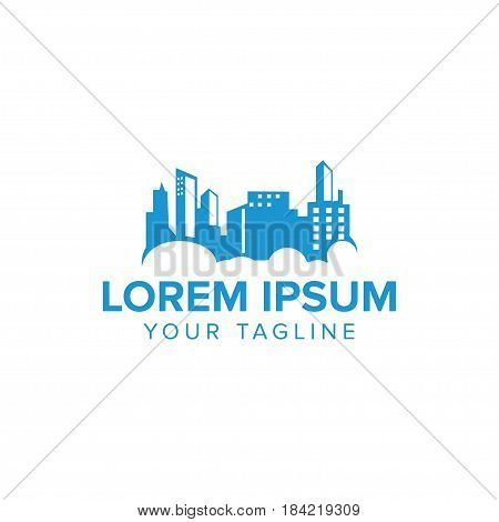 Creative Urban City Logo concept design with blue color. Clean urban and professional feel. Very nice for brand identity .