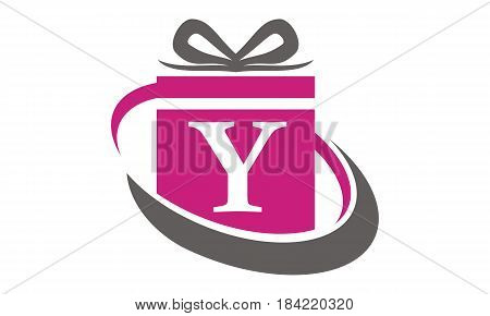 This Image describe about Gift Box Ribbon Letter Y
