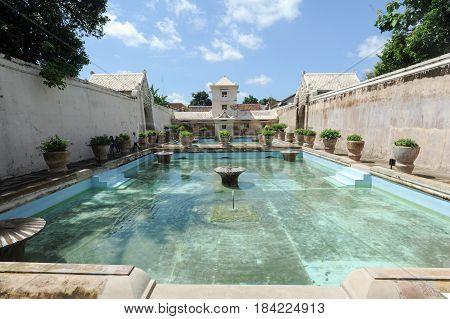 Taman Sari Water Palace Of Yogyakarta On Java Island