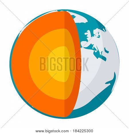 Geophysics concept with section layers earth, vector illustration in flat style