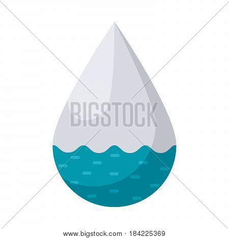 Hydrology concept with drop, vector illustration in flat style