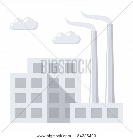 Industry concept with industrial building factory, vector illustration in flat style