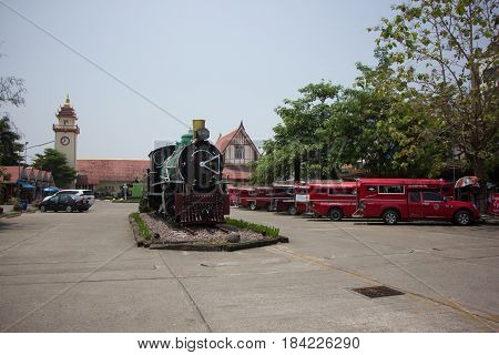 Old Steam Locomotive No.340 Of State Railway Of Thailand