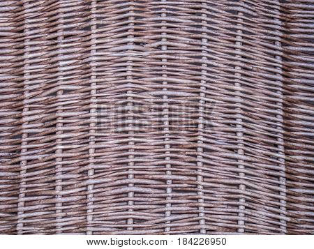 Close up wicker texture / rattan texture for background