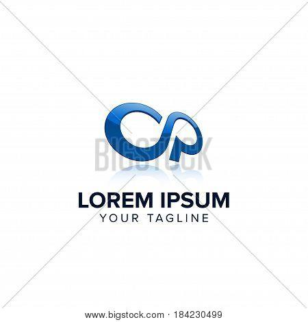 Letter OP Logo Infinity concept design templates
