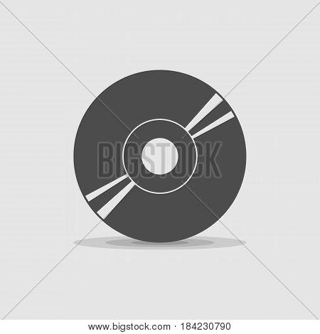 icon disc cd - vector eps 10