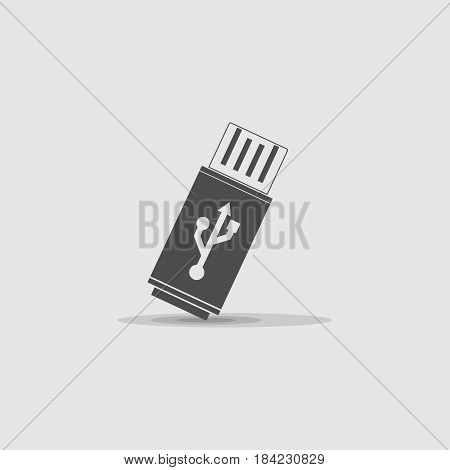 mini flash drive icon - vector eps 10