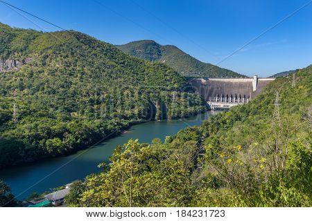 Bhumibol Dam Concrete Arch Dam on Ping River