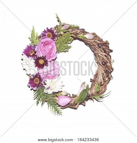 Flortal Frame On A White Background