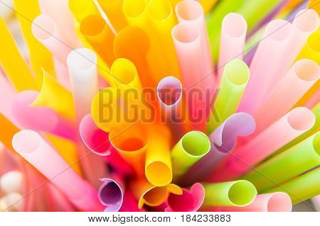 Straw colorful background , straws use for drink