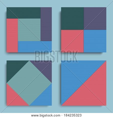 Material design covers for banners cards posters flyers. Vector illustration