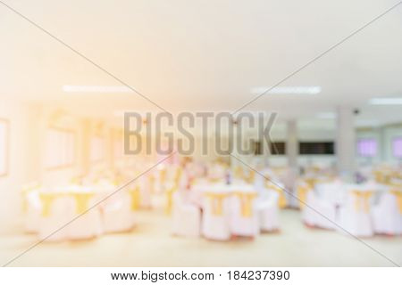 Blurred image of dinner room party background.