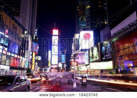 NEW YORK - JUNE 7: New York Times Square night scene on June 7, 2008