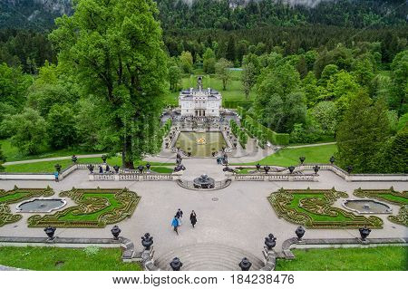 Linderhof Palace Is A Schloss In Germany, In Southwest Bavaria