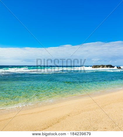 Amazing Gris-Gris beach at day time. Mauritius.