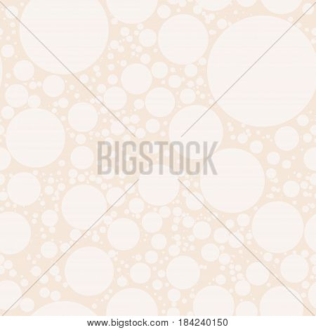 Seamless geometric pattern with circles dots or polka dots. Abstract pattern for print on wallpaper fabrics wrapper curtain covering bedding decor upholstery curtains. Vector illustration