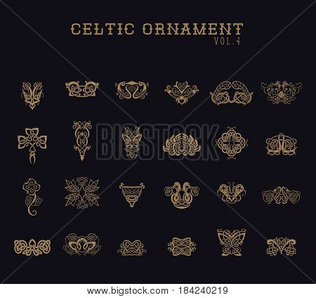 Celtic Ornament Collection set.  Huge Vector Illustration design set