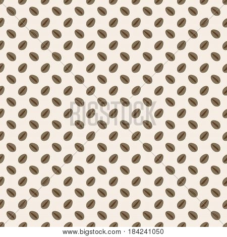 Coffee beans seamless pattern. Abstract background. Raster illustration for printing on packaging, web banners, Wallpaper, wrapper, wrapping