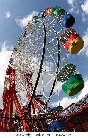 Ferris Wheel - fisheye photo
