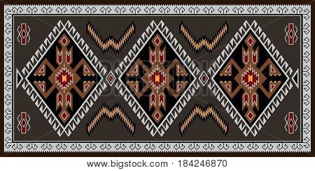 Colorful geometric pattern, blanket, banner. American Indians style. Navajo tribe style.