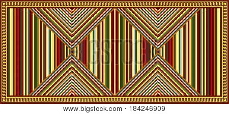 Geometric pattern, blanket. American Indians tribal style.