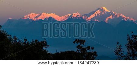 Sleeping Buddha the other name of Kanchenjunga Range