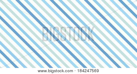 Background with a slanted diagonal stripes lines. Different shades of blue color. Vector illustration. Geometric background print on paperfabric gift wrap packaging bedding lining apparel
