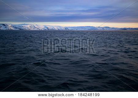 Barents Sea In Arctic Ocean. Kola Peninsula, Russia
