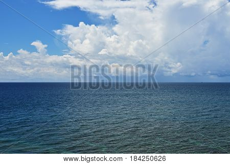 View of seascape in Kudat Tip Of Borneo, Malaysia.