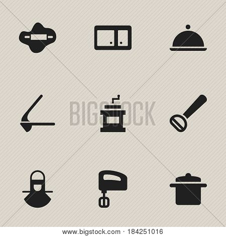 Set Of 9 Editable Cooking Icons. Includes Symbols Such As Rocker Blade, Salver, Sideboard And More. Can Be Used For Web, Mobile, UI And Infographic Design.