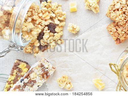 Crunchy And Muesli Copy Space