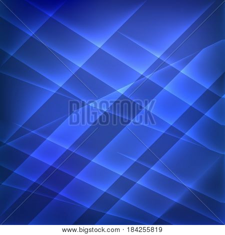 Blue glow geometric abstract background. Vector illustration.