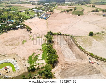 Developed Flattened Land