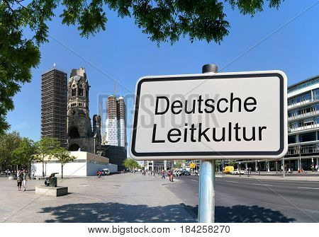 BERLIN, GERMANY - MAY 12, 2016: Sign with the inscription