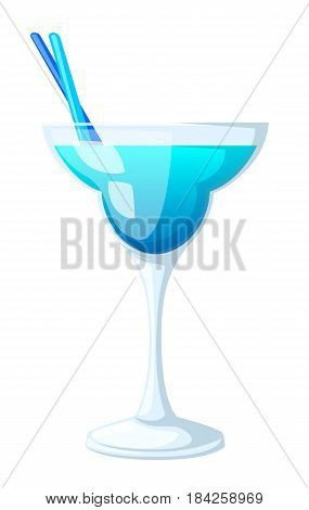 Vector illustration of eight popular alcoholic cocktails flat style cocktail party invitations flyers brochures templates isolated on white background