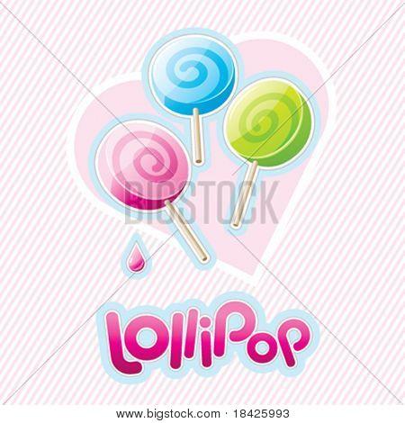 Three vector lollipops
