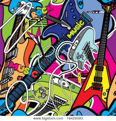 Vector seamless music illustration