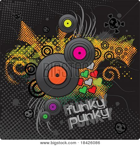 Funky vector background