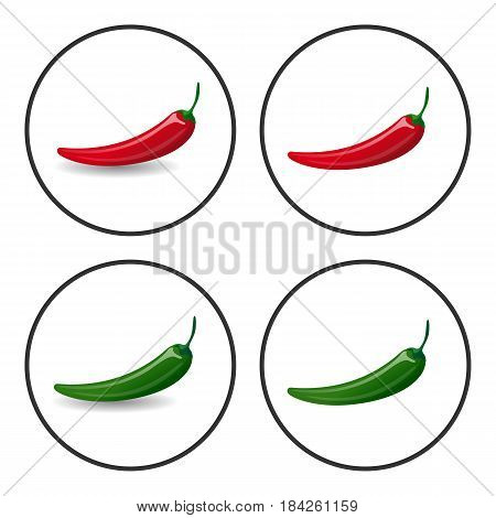 Hot Chili Peppers, Vector Icons