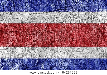 Grudge stone painted Costa Rica flag close