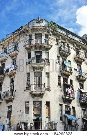 Hotel Montserrat - Havana, Cuba: Hotel Montserrat in Old Havana, at the corner of Montserrate and Obrapia streets. Fidel Castro slept in that hotel the first time he arrived in Havana. Now, the Montserrat hotel is residential. poster