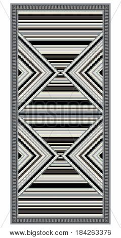 Colorful geometric pattern, blanket, banner, decoration with stripes. American Indians style. Desaturated colors.