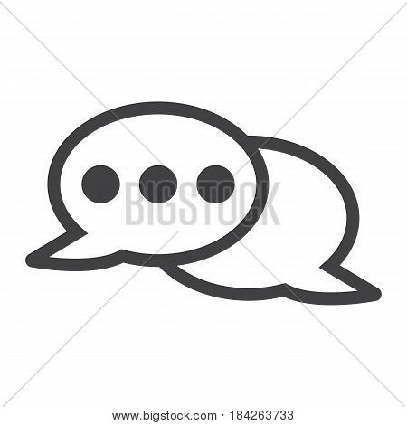 Speech bubble line icon, chat and website button, vector graphics, a linear pattern on a white background, eps 10.