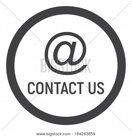 Email address line icon, contact us and website button, vector graphics, a linear pattern on a white background, eps 10.
