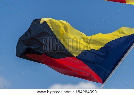 International maritime signal flag - zulu sign
