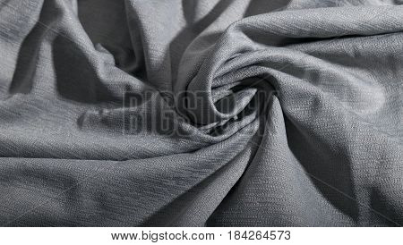 Synthetic Grey Fabric Texture Background.