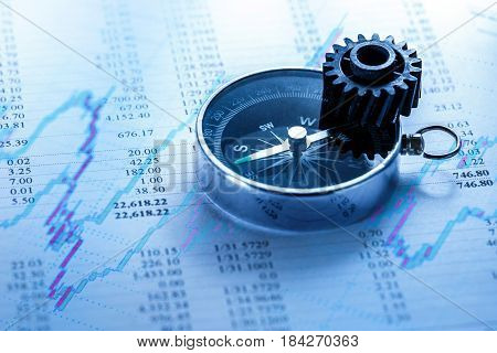 Operating Budget, Cogwheel And Compass