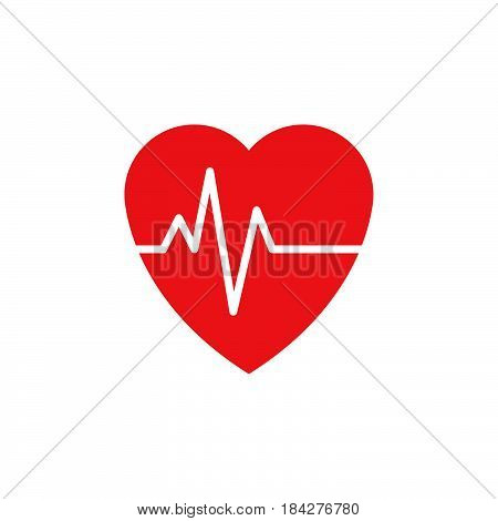 heart beat pulse icon isolated on white background .